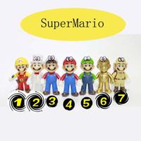 novas figuras de mario bros venda por atacado-2019 New Genuine SuperMario Bros Figura play SuperMario PVC brinquedos boneca Super Mario cogumelo boneca irmãos Mario Louis boneca 7 estilos C2