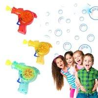 aydınlatma sabunu toptan satış-Shining Light Up Kabarcık Silah Atıcı Sabun Kabarcık Blower Açık Çocuk Oyuncakları chlidren Banyo oyuncakları EEA492