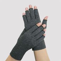 mãos artrite venda por atacado-Luvas de artrite Recuperação Alívio Da Dor Da Luva Mão Suporte de Pulso Sports Protection Alta Elasticidade Ventilação Anti Inchaço 16mhf1