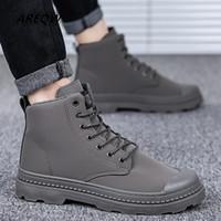 Rabatt Männer Winter Echtes Leder Stiefel Pelz | 2019 Männer