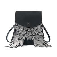 venta de mochilas lindas al por mayor-New hot-sale Girls Cute Mochila Mujer Wing Design School Bag Niños niña Angel Wings bolsa de viaje Daypack Ladys Hombro