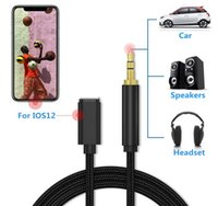 usb kulaklık girişi toptan satış-iPhone 7 8 Plus X için Konuşmacı Dayanıklı 1M Naylon Örgülü 3.5MM Araç Ses Jak Usb Kablo Kulaklık Jack Aux Kordon