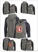 mujeres más sudadera con capucha del marrón al por mayor-2018 nuevos Bears Bengals Browns Cowboys Broncos Pro Line de Branded Tri-Blend Raglan de talla grande para mujer Sudadera con capucha