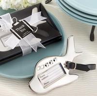 ingrosso favori di nozze in scatola-Tag bagagli aereo in confezione regalo con tag valigia matrimonio / bomboniere!