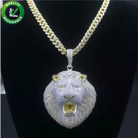 Wholesale rappers chains for sale - Group buy Hip Hop Bling Chains Jewelry Men Iced Out Pendant Luxury Designer Necklace Mens Gold Chain Pendants Diamond Cuban Link Rapper Fashion Lion