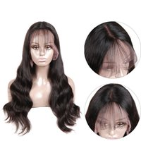 Wholesale human hair wigs online - Brazilian Lace Frontal Wigs Pre Plucked With Baby Hair Full Brazilian Body Wave Human Hair Lace Front long Wigs For Black Women