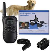 uzak hayvan eğitimi toptan satış-300 Metre Uzaktan Pet Köpek Eğitim Tasmaları Ile Şarj Edilebilir Ve Su Geçirmez Eğitim Yaka LCD Ekran 998DR