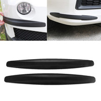 2X Rubber Carbon Fiber Car Bumper Protector Door Protector Strip Corner Guard Front Rear Anti-Scratch Protection strip