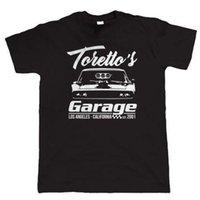 ingrosso trascinare le automobili-Toretto's Garage, Mens Muscle Car T Shirt - Regalo Him Dad Hemi Dodge Drag Racing