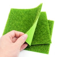 ingrosso green moss-15x15 cm 30x30 cm tappeto erboso verde prato artificiale piccolo tappeto erboso falso soda casa giardino muschio casa piano fai da te decorazione di cerimonia nuziale