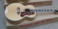 Wholesale maple acoustic guitar online - Hot Sale Quality AAA Custom Shop Burlywood Solid Spruce Top Venner Tiger Flamed Maple Sides Back Acoustic Guitar