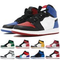 sapatilhas para homens venda por atacado-Nova Jordan Jumpman 1 1s alta OG Mens Obsidian Royal Toe homens tênis de basquete Chicago sports formadores alta qualidade Low Travis Scotts Sneakers