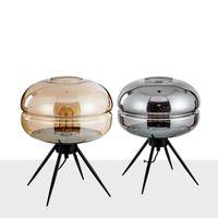 chinesische tischleuchten großhandel-Einfache Moderne Tischlampen Nordic Kreative Glas Kleine Tischlampe Kunst Nachttisch Schlafzimmer Chinesischen Stil Tischlampe Wohnzimmer bett Schreibtisch Lichter