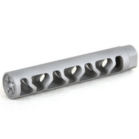 Wholesale stainless washers resale online - 5 Inch x28tpi Bead Blast Stainless Steel Compensator Muzzle Brake with Crush Washer