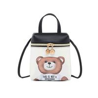 lindas mochilas pequeñas para mujeres al por mayor-2019 Moda Corea Estilo Mini Mochila para Mujeres Pequeñas Bolsas Crossbody Para Niñas Sobre Bolsa de Hombro Lindo Para Mujer Oso Lindo que data