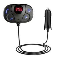 alto-falante do volante bluetooth venda por atacado-Transmissor FM Kit Mãos Livres Do Carro Do Bluetooth TF Cartão MP3 Player de Música Carregador USB Magnético Transmissor FM Transmissor Modulador