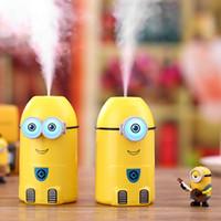 minion ışıkları toptan satış-Gece Işığı Mist Maker dumanlayıcı Karikatür Minionlar Nemlendirici USB Ultrasonik Esansiyel Yağı Yayıcı difusor aroması