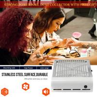 aspiradora filtro de limpieza al por mayor-Potencia fuerte 40W Clavo Aspirador Nail Fan Colector de polvo Aspirador Art Salon Equipment Manicure Machine 2 colores con filtro libre