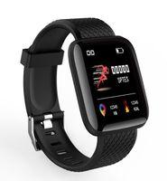 Wholesale 19 monitors resale online - Fitness Tracker ID116 PLUS Smart Bracelet with Heart Rate Smart Watchband Blood Pressure Wristband PK ID115 PLUS PLUS F0 for Fitbit MI