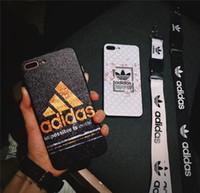 ingrosso caso superiore di iphone di modo-Top Fashion brand stampato lettera Ad copertura della cassa del telefono mobile per iphone Xs max X XR 7plus 8plus 6plus 7 8 6 TPU + PC con cordino