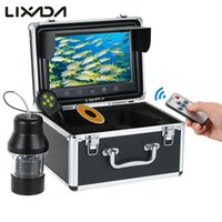 Wholesale underwater color fish camera resale online - Lixada Fish Finder LEDs Underwater Fishing Camera with Touch Buttons Inch Large Color Screen Degree Rotating Camera