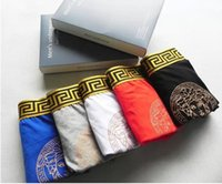 venda de calcinha venda por atacado-2019 Venda Quente de Luxo Mens Respirável Underwear ~ Macio Confortável Designer Mens Underwear Boxers ~ Cor Aleatória Cuecas