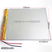 Wholesale li polymer battery for tablets resale online - 18100130 V Ultra thin mAh Lithium Polymer Li Po Rechargeable battery For GPS PSP Power bank Tablet PC MID DVD PAD mm