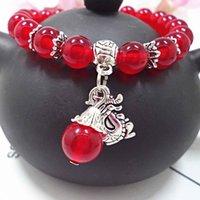 ingrosso vendita di braccialetti elastici-Braccialetto di pietra calcedonio naturale Braccialetto di design braccialetto di donne etniche Bracciale stile etnico Gioielli di perline fatti a mano Vendita calda di gioielli