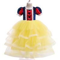 niños tutu de hadas al por mayor-Kids Girl Fairy Cosplay Dress 6+ Princesa de Halloween Vestidos de moño con disfraces Disfraz Kids Designer Party Party Peform Costume TUTU Vestido 3-8T