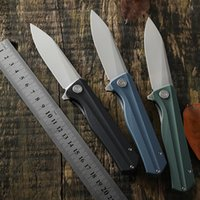 Wholesale bear knife new resale online - Petrified fish new folding knife G10 handle D2 steel blade bearing tactical Pocket knives outdoor self defense hunting cutter EDC tools