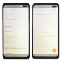 o camara al por mayor-Goophone S10 Plus 6,5 pulgadas S10 + Goophone con cara ID de Iris WCDMA 3G Quad Core Ram 1GB ROM 8GB Android 9.0 Cámara 8.0MP Mostrar 5G 8GB 512GB