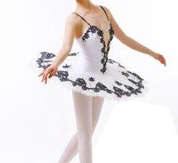 tutus rojo para mujeres al por mayor-Adultos Profesional Ballet Tutu Blanco Negro Cascanueces Bailarina Pancake Rojo Rendimiento Ballet Tutu Negro Para Niños Y Mujeres
