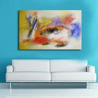 Wholesale best abstract art painting canvas resale online - Handmade oil painting on canvas Best Art Abstract oil painting decorative wall pictures canvas art