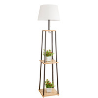 modern zemin lambaları toptan satış-Nordic floor lamp living room simple modern bedroom study solid wood led magnifying floor lamp foot switch for floor lamps