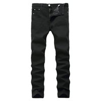 джинсы брюки китай  оптовых-New Arrival Jeans For Men Cheap Jeans China Straigh Regular Fit Denim Pants Classic Elastic Black Colour Size 28 To 42