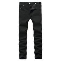 pantalon de chine d'homme achat en gros de-Nouvelle arrivée Jeans pour hommes pas cher Jeans Chine Straigh Regular Fit Denim Pants Classique Élastique Noir Couleur Taille 28 À 42