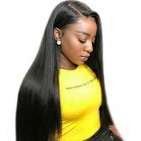 необработанные бразильские человеческие волосы парики оптовых-Bemiss Hair® Full Lace Wigs Бразильские прямые человеческие волосы Парики из натуральных волос Необработанные 360 парики с кружевными вставками, предварительно выщипанные с детскими волосами