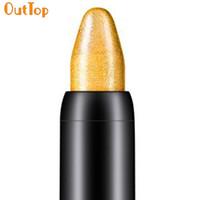usine d'eye-liner achat en gros de-Surligneur Ombre À Paupières Cosmétique Beauté Glitter EyeLiner Ombre Crayon Longue Durée Étanche Lumineux Maquillage Usine Direct Drop Drop