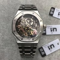 Wholesale mens wrist watch series for sale - Group buy 2019 Top mens watch Sapphire Glass ST OO ST series MM skeleton dial automatic movement Solid Stainless strap wrist watch