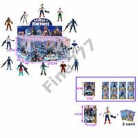 muñecas nano al por mayor-Fortnite Doll toys with card 2019 Nuevos niños 15cm 4.5 'Juego de dibujos animados Fortnite llama esqueleto Papel Figura Juguete lol
