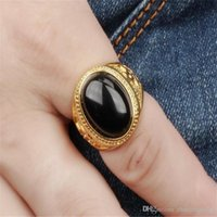 Wholesale gemstone rings for sale - Group buy 18k Gold Filled Men Gemstone Ring Charm Ring Wedding Ring fashion jewelry