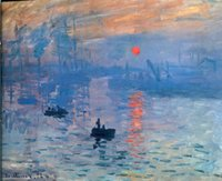 Wholesale impressions painting for sale - Group buy Impression Sunrise by Claude Monet Home Decor Oil Painting On Canvas Wall Art Canvas Large Picture