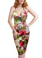 Wholesale hawaiian party dresses for sale - Group buy Sweetmeet Women s Hawaiian s Rockabilly Retro Floral Print Party Dresses
