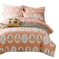Wholesale queen bedset for sale - Group buy Children s CUTE Princess Bedding Sets Queen Size DuvetCoverSet m Single Double BedSet Orange Dancing Girl s Home Cartoon Kids Bedding Kit