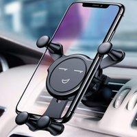 caixa do berço venda por atacado-Suporte do veículo do telemóvel da cara do sorriso, auto-fixação do berço do suporte da montagem do carro do respiradouro de ar compatível para o iPhone Samsung e mais com caixa de varejo