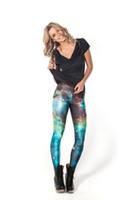 leggings quentes cinza venda por atacado-Vendas Hot S Para 4xl Mulheres Espaço Do Punk Galaxy Mulheres Leggings 6 Padrões Vermelho Azul Cinza Roxo Casual Leggins