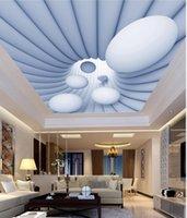 Wholesale fireproof wallpaper resale online - Photo Wallpaper Living Room Bedroom KTV Ceiling Murals Wallpaper Abstract rotating sphere fashion ceiling mural