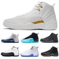 Wholesale mens suede summer breathable shoe for sale - 12 XII s Mens Basketball Shoes For Women Designer Sneakers Space Jam White Gym Red Dark Grey Blue Suede CNY Breathable Sports Shoes