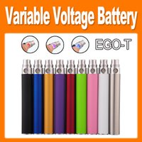 Wholesale multi voltage ego resale online - EGO Variable Voltage Battery for Electronic Cigarette Ego T Thread match CE4 atomizer CE5 clearomizer CE6 mah mah mah Color