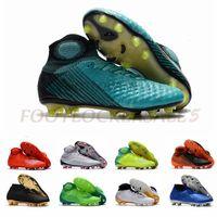 zapatillas de fútbol verde para hombre. al por mayor-2019 Superfly Phantom VSN Vision Elite DF FG Gradient Azul Verde Hombres Tacos de fútbol Moda Utilidad Ronaldo Botas de fútbol Zapatos Tamaño 39-45